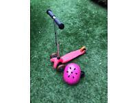 Micro mini scoter with helmet