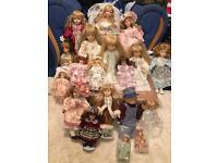 Porcelain dolls job lot