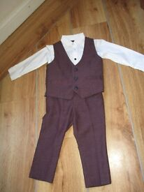 Smart waistcoat, shirt and suit - age 12-18 months - ideal wedding outfit