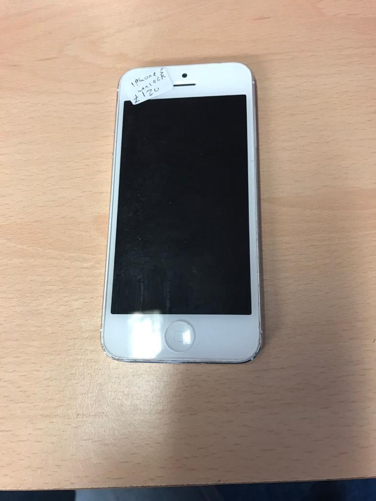 IPhone 5 16gb unlockedin Ward End, West MidlandsGumtree - iPhone 5 16gb white unlocked to all networks. In average condition. Comes with charger. iOS 8.1.4, £110 no offers IPhone 5 16gb black unlocked. In average condition. Comes with charger. £110 no offers