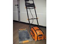 Evolution HULK electric 240V vibro plate compactor with rubber pavia pad