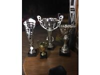 4 blank football sports rugby tennis trophy trophies