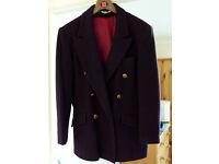 Debenhams Wool & Cashmere Navy Blazer Size 16