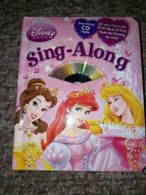 Disney Princess Sing Along book and CD