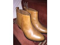 Ladies tanned colour ankle boots- size 5 - unworn from warehouse