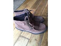 Fat Face wedge boots 7 suede