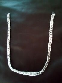 Heavy mens long silver chain, still packaged, unused unwanted gift £20. 07912229359