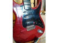 Red/Black Crackle Starforce Guitar