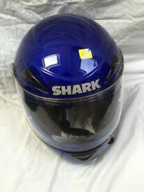 Shark S500 helmet S/M blue lovely condition