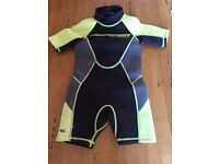 Child's shortie wet suit