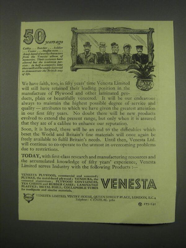 1949 Venesta Plywood Ad - 50 years ago