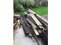FREE/Collection only - Used wooden decking boards -