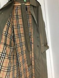 EASTER SALE! Genuine Vintage Burberry Classic Mens Mac Trench Coat, Raincoat Size 50RL