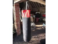 BBE Punch bag with gloves in good condition.