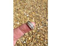 Ladies Size M 14k Gold & 56 Diamond Ring 4.7 Grms