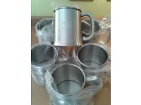 """BRAND NEW NEVER USED """"BEER TANKARDS"""" NEW BOXED"""