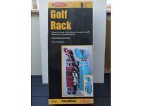 GOLF STORAGE RACK GOLF BAG & SHOE STORAGE HEAVY DUTY STEEL RACK NEW & UNUSED