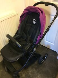 Oyster pram with grape colour pack