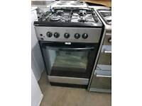 ESSENTIALS CFSGSV17 50 cm Gas Cooker - Silver & Black *new*