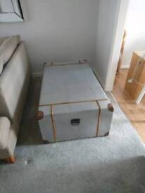 Large silver trunk chest
