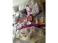 Baby clothes bundle (0-3 months, unisex and girls, JoJo Mama Bebe, Junior J)