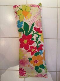 floral long cushion