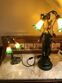 Two beautiful reproduction art deco lamps