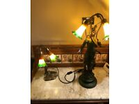 Two beautiful reproduction art deco lamps