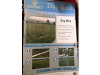 Dog Run Galvanised Metal with door.