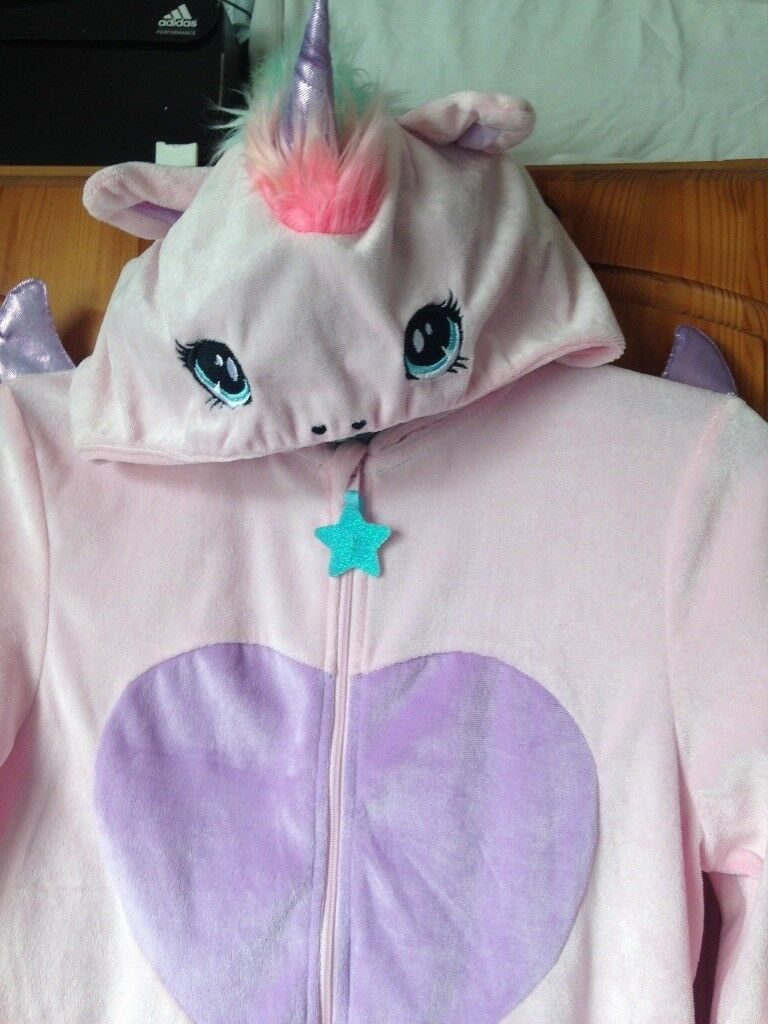 Unicorn onsie, age 8-10 from H&M