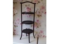 Vintage shabby chic wooden cake stand