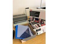 Ibico binder machine & extras