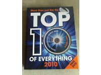 TOP 10 of everything 2010 book with free quiz DVD