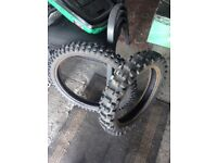 Michelin AC10 pair of motocross/enduro tyres