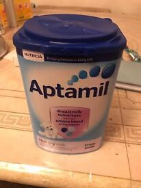 Aptamil hungry powder milk unopened, sealed 2018 expiry £7.00