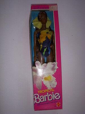 1985 Vintage Mattel Tropical African American Barbie #1022, NRFB, Sealed!