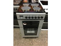 Baumatic BCE520SL Free Standing Electric Cooker with Solid Plate Hob 50cm