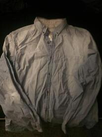 River island denim shirt xxl