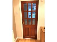 Glazed hardwood external door