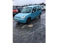 2006 mulitspace 1.9 d 134 k twin sliding doors seats rims van tyres shafts starter wings door