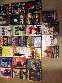25 assorted dvd