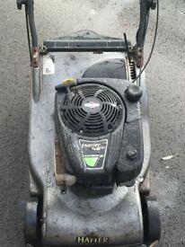 petrol lawn mower hayter