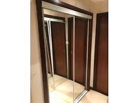 Mirror Wardrobe doors white finish