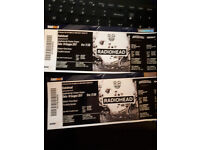 2 Radiohead Tickets for the gig in Florence (Italy)