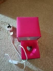 Pink bedroom lamp