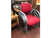 Red Fabric Stackable Chairs
