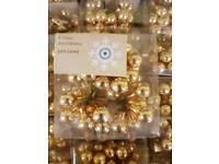 John Lewis 4 glass Decorations x 65 job lot