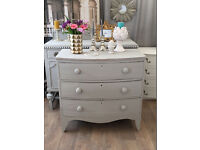 Lovely shabby chic Victorian bow chest of drawers by Eclectivo