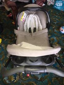 Graco 3 in 1 travel system (cream) - bear and friends