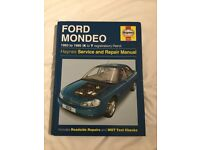 Haynes Ford Mondeo Service and Repair Manual and Service Guide